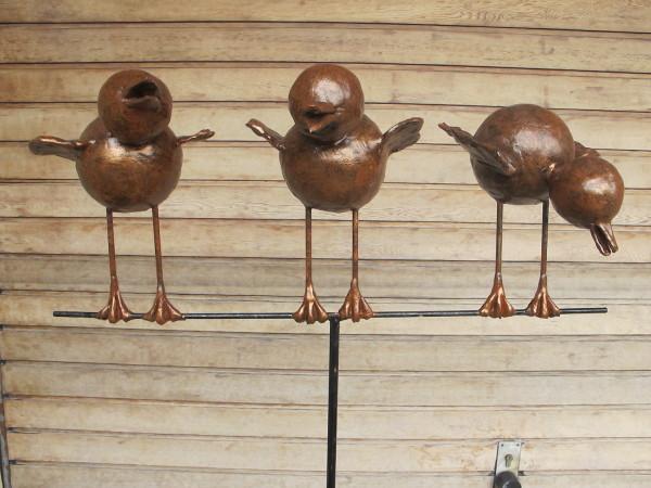 2 vogels op stok voor binen of buiten